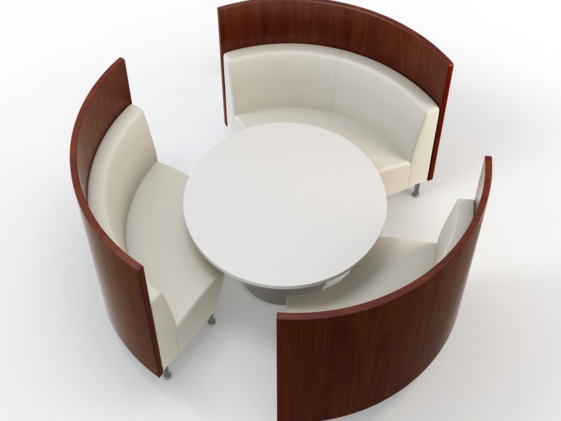 Curved Banquette Bench Seating