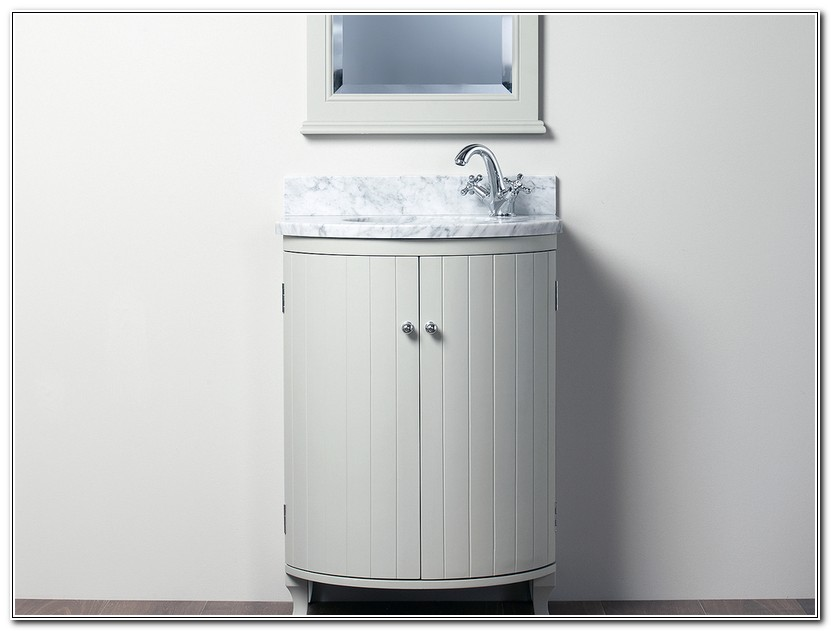Curved Bathroom Vanity Unit