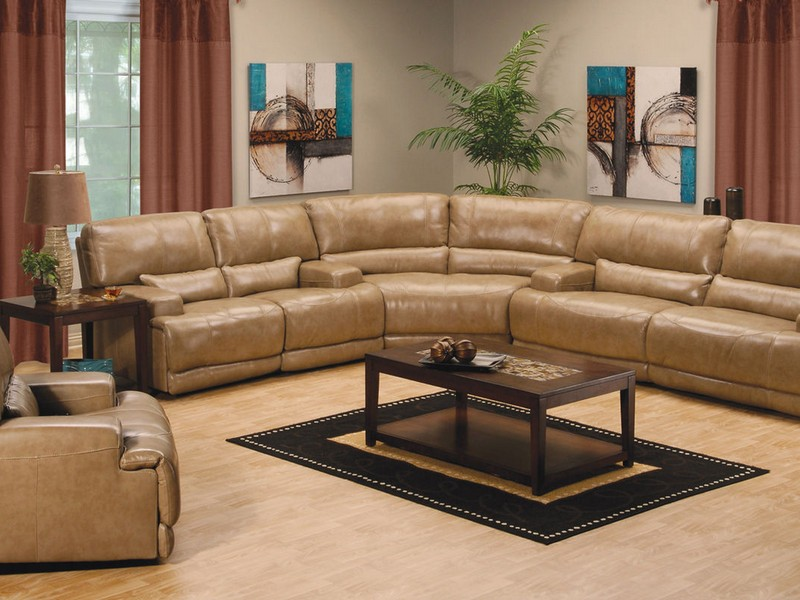 Curved Leather Sofa Recliner