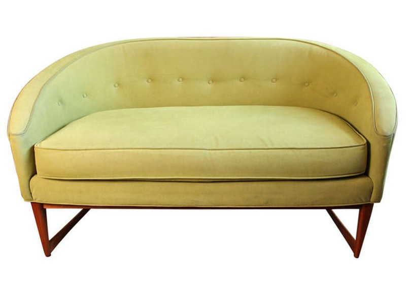 Curved Loveseat Bench
