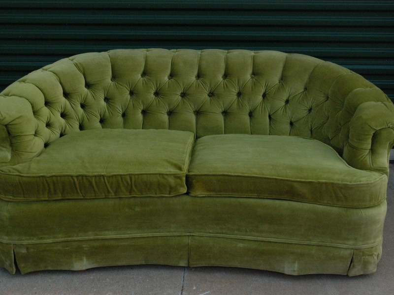Curved Loveseat Sofa