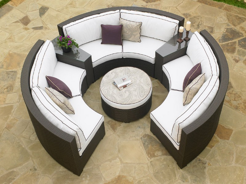 Curved Outdoor Sectional
