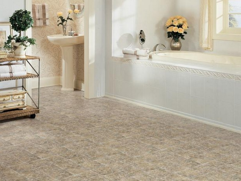 Cushioned Vinyl Flooring Bathroom