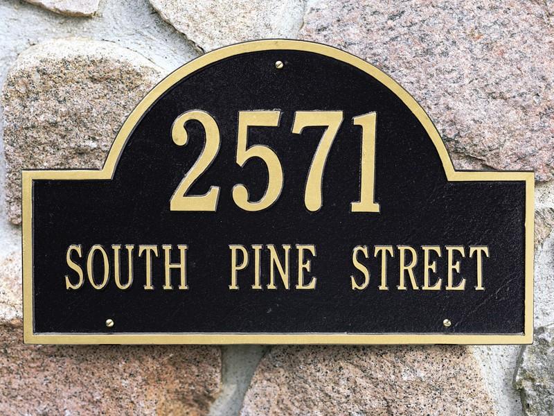 Custom Address Plaque