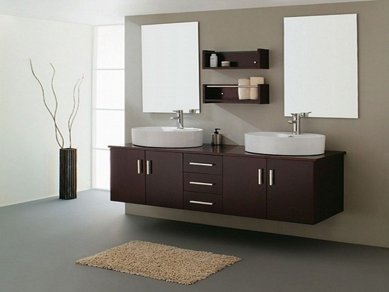 Custom Double Sink Bathroom Vanity