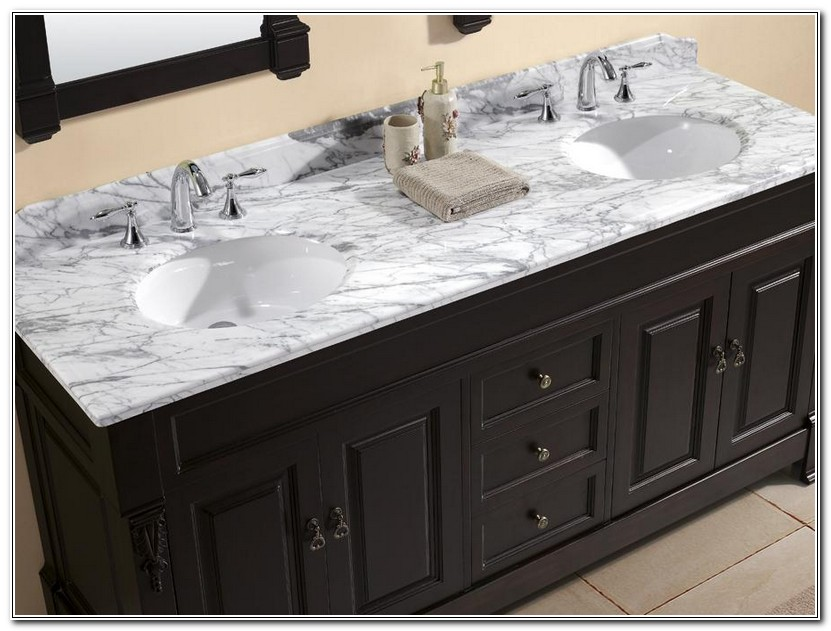 Custom Vanity Top With Integrated Sink