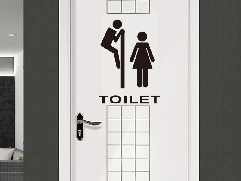 Cute Bathroom Door Signs