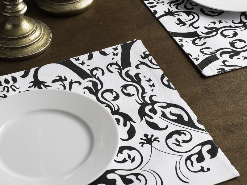 Damask Placemats Black And White
