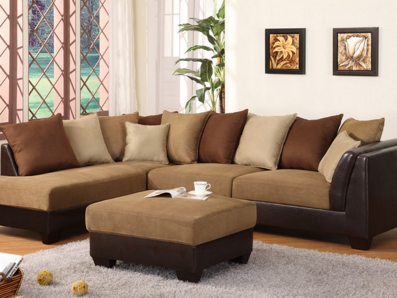 Dark Brown Suede Couch