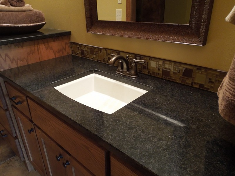 Dark Granite Bathroom Countertops