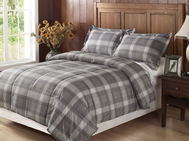 Dark Grey Duvet Cover Set