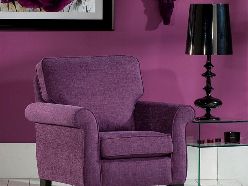 Dark Purple Accent Chair