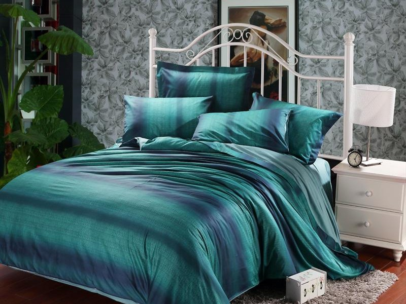 Dark Purple And Teal Bedding