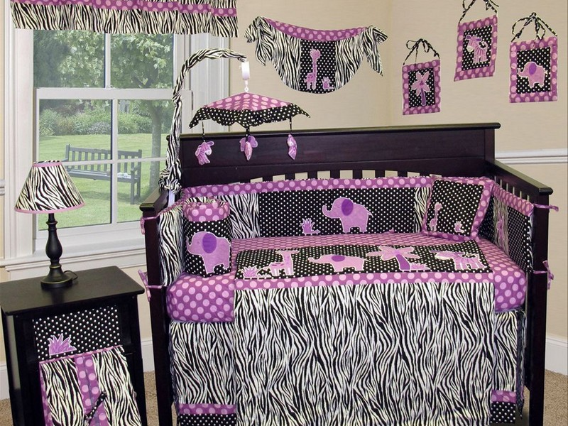 Dark Purple Baby Bedding