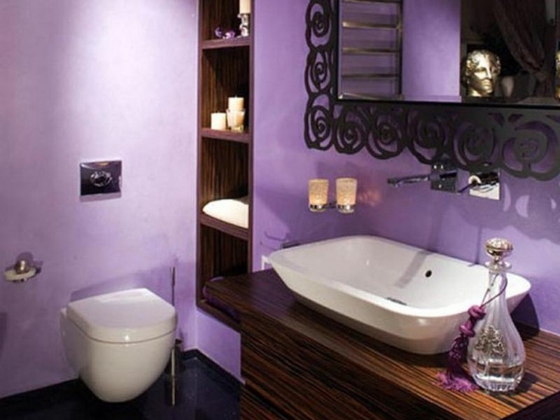 Dark Purple Bathroom Accessories