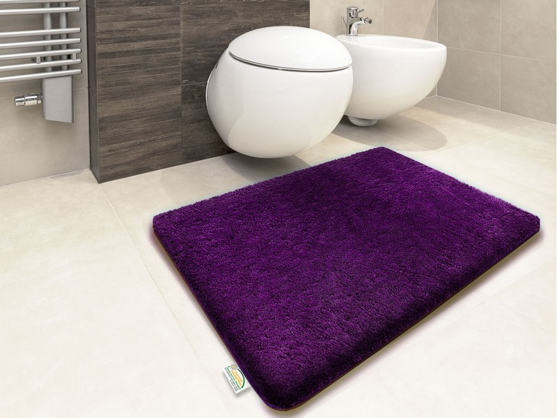 Dark Purple Bathroom Rugs