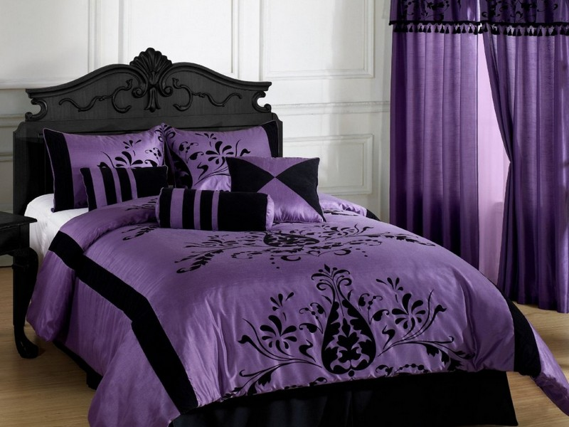 Dark Purple Camo Bedding