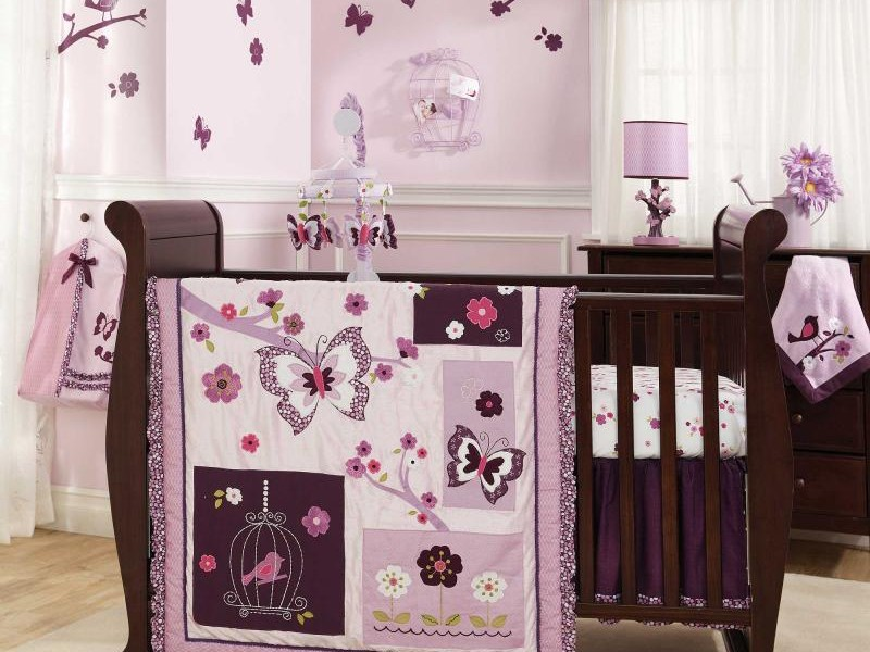 Dark Purple Crib Bedding Sets