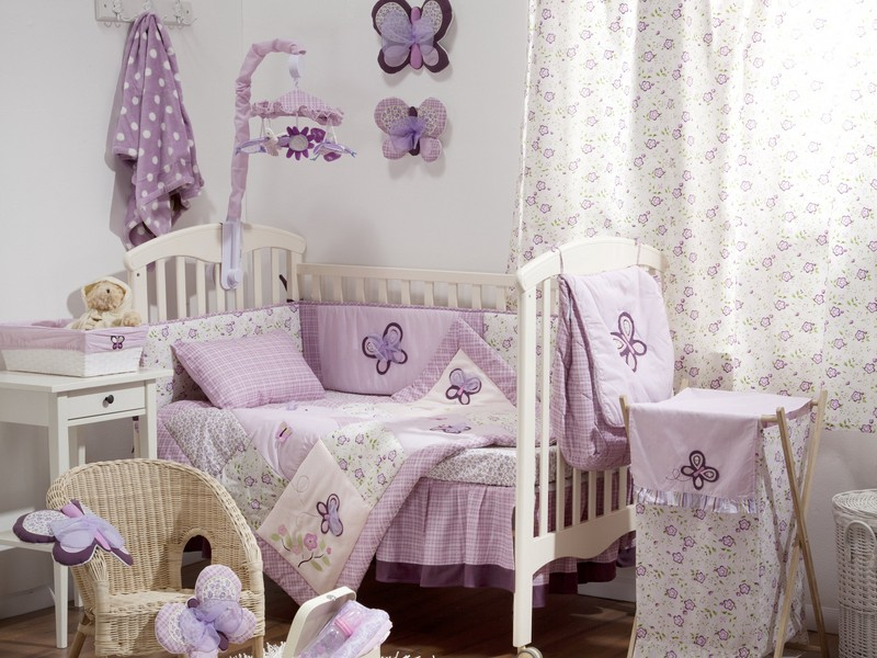 Dark Purple Crib Bedding