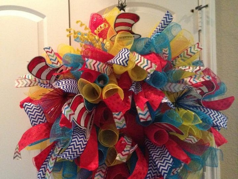Deco Mesh Bows For Wreaths