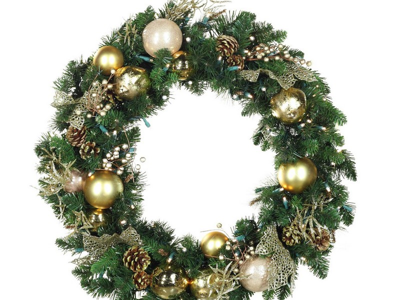 Decorated Christmas Wreaths