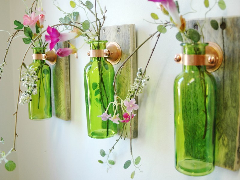 Decorative Colored Glass Bottles