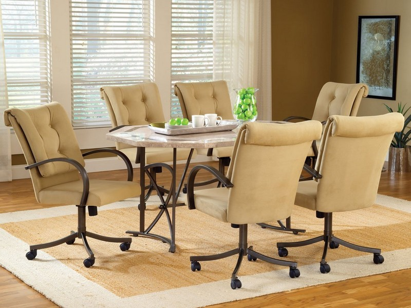Dining Room Chairs With Casters Leather