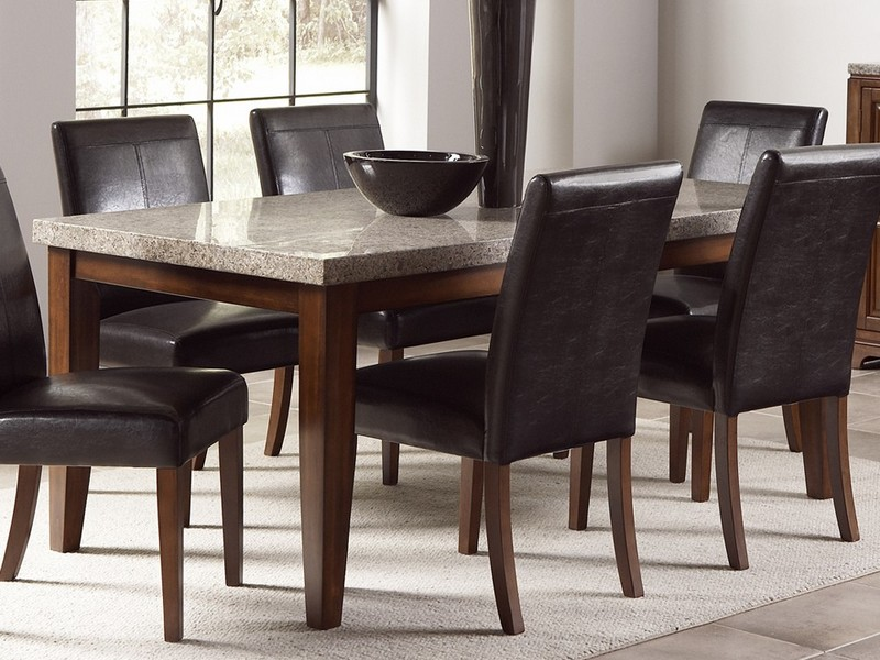 Dining Room Set With Black Leather Chairs