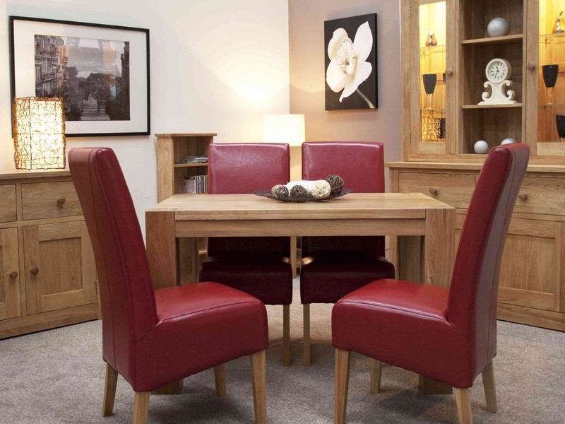 Dining Room Sets With Red Leather Chairs