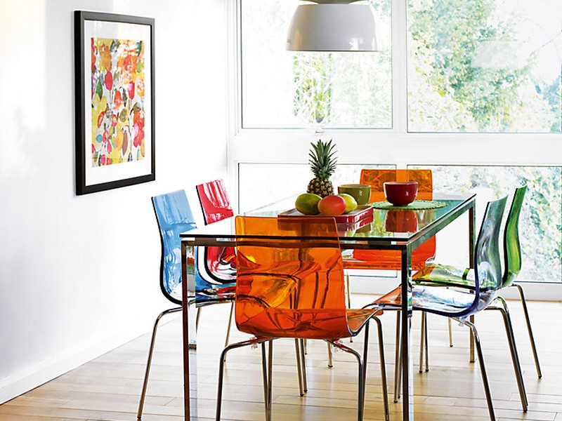 Dining Table With Colored Chairs