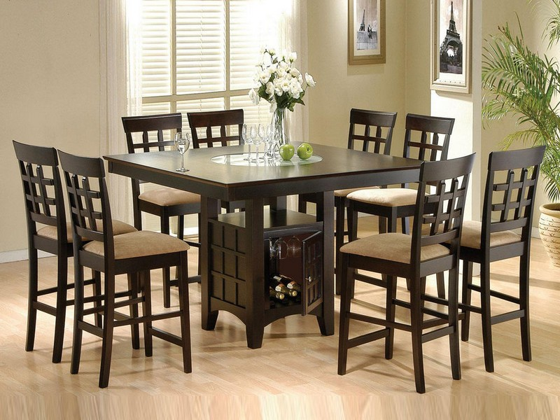 Dining Table With Lazy Susan Built In