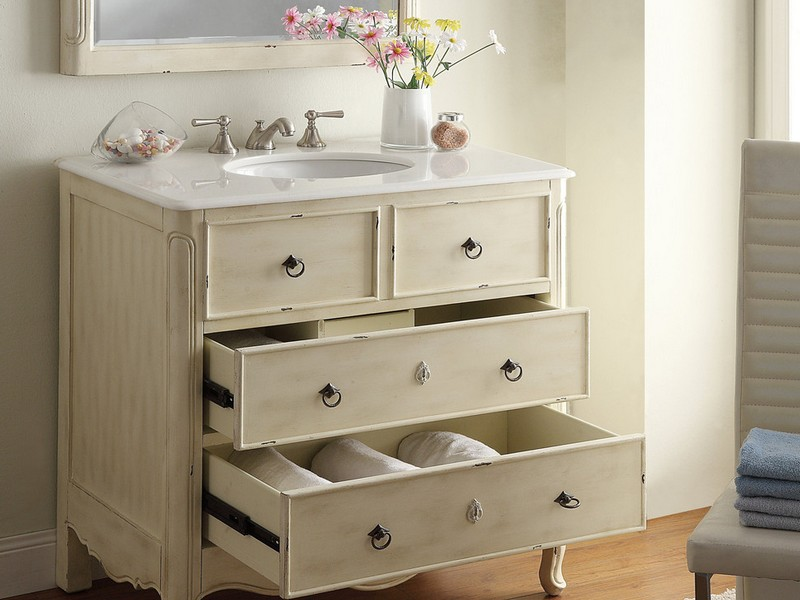 Distressed Bathroom Vanities Wood