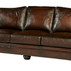 Distressed Leather Sectional Sofa