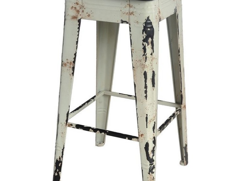 Distressed Metal Bar Stools