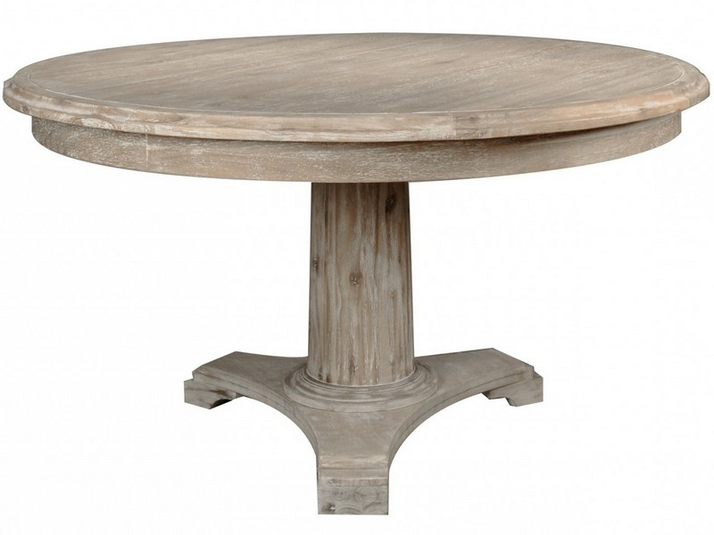 Distressed Round Dining Room Table