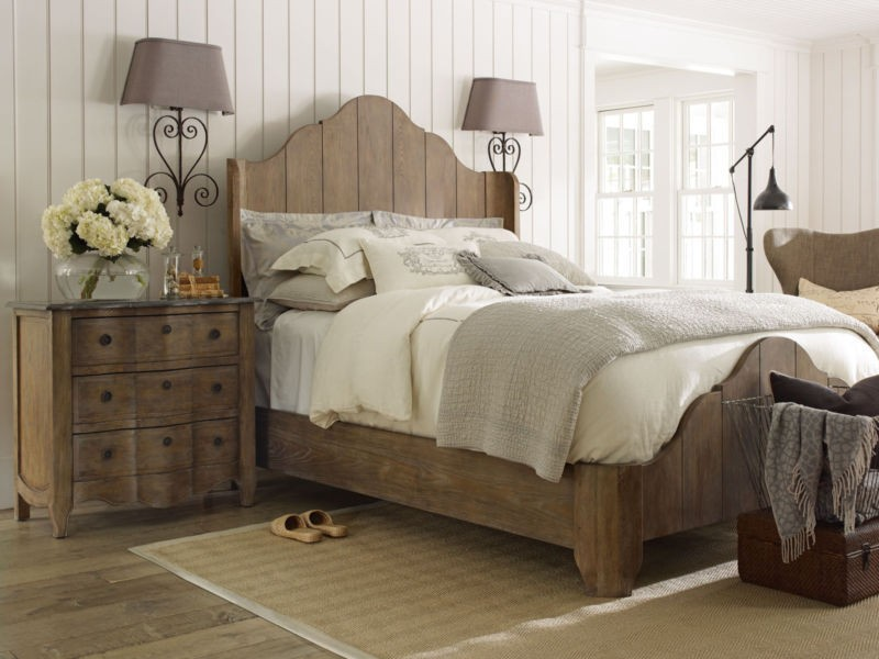 Distressed Wood Bedroom Set