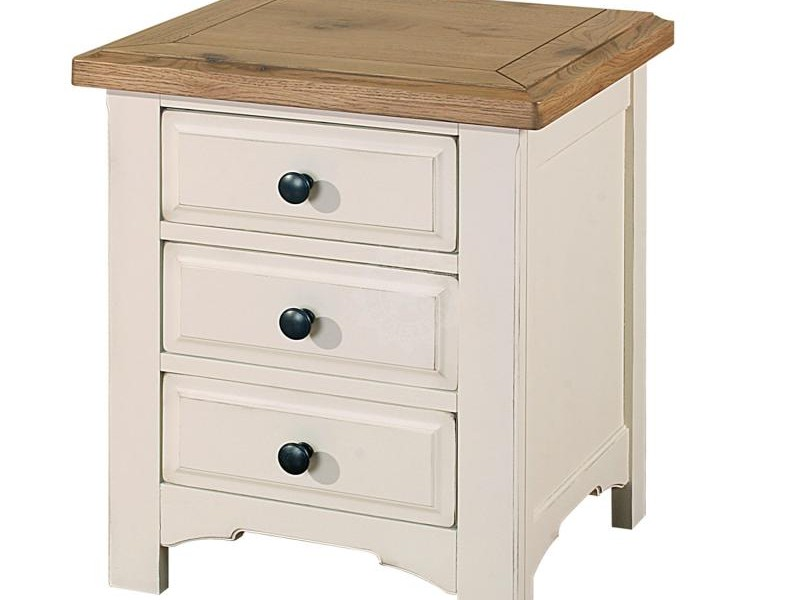 Distressed Wood Bedside Tables