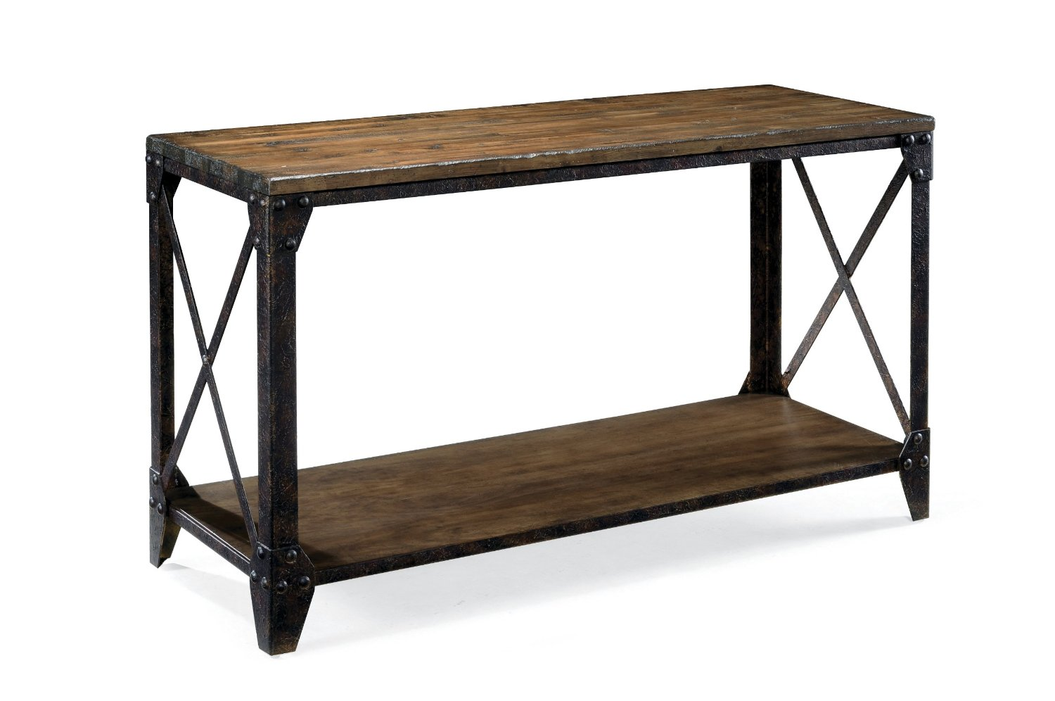 Distressed Wood Console Tables