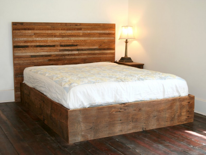 Distressed Wood King Bed