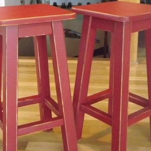 Distressed Wooden Bar Stools