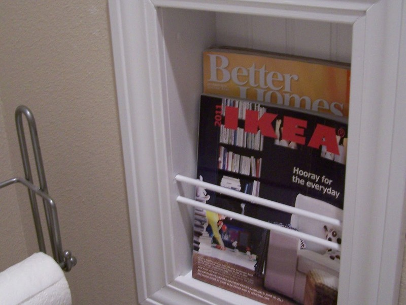 Diy Bathroom Magazine Holder