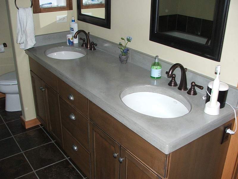 Diy Concrete Bathroom Countertop