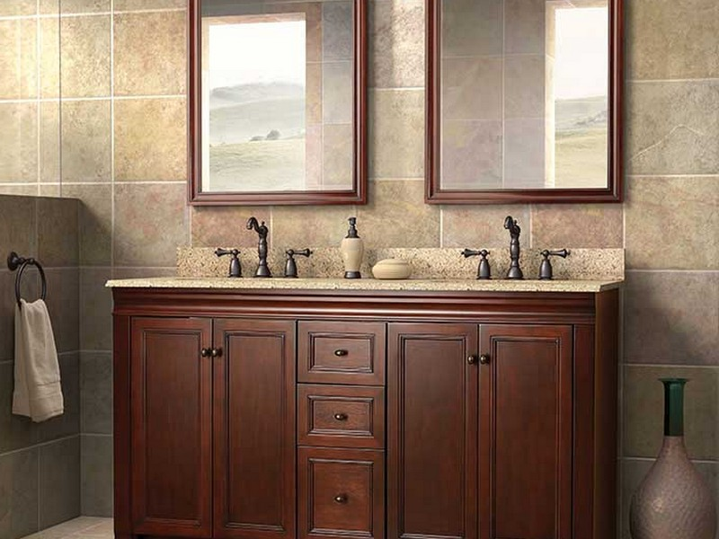 Double Bathroom Sink Countertop