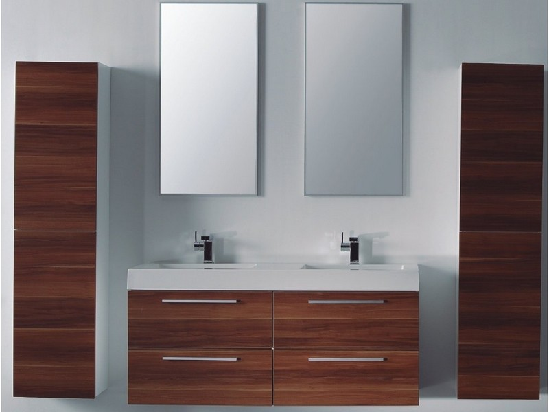 Double Bathroom Sink Unit