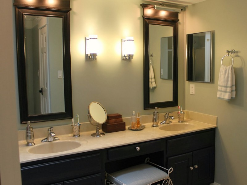 Double Bathroom Vanity Lighting Ideas
