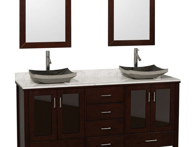 Double Bathroom Vanity With Vessel Sinks