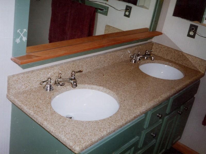Double Bowl Bathroom Sinks