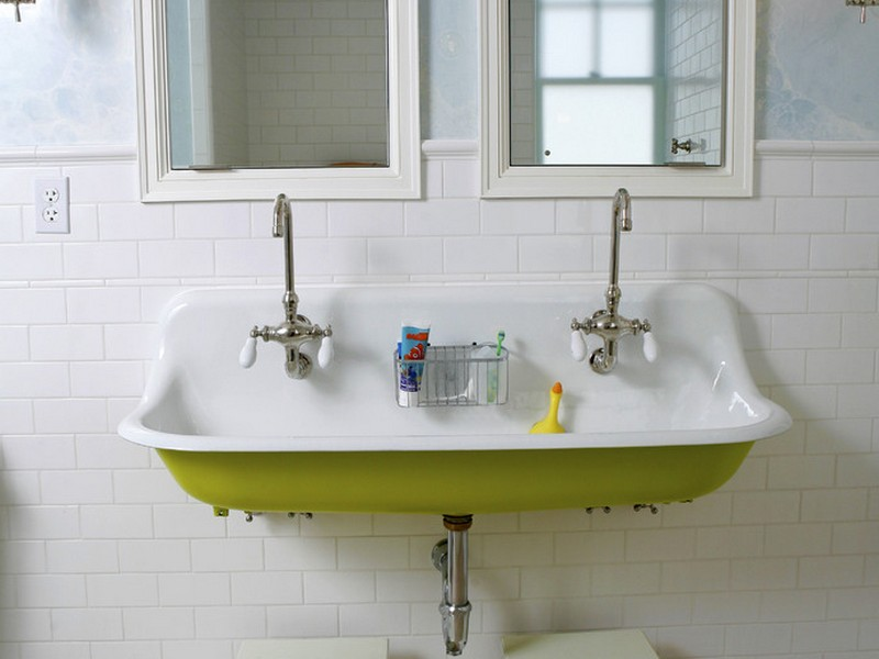 Double Farmhouse Bathroom Sink