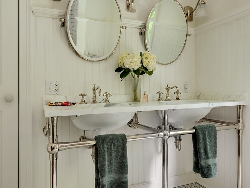 Double Pedestal Bathroom Sink