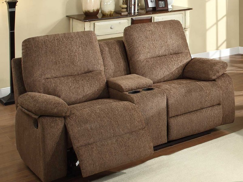 Double Reclining Sofa With Fold Down Table